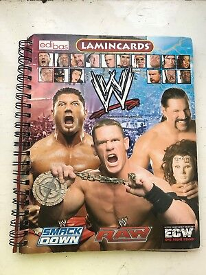 Complete Wwe Lamincards Wrestling Trading Cards Album Set With Binder