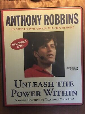 Anthony Robbins Unleash the Power Within 6 Cassettes Unused Workbook COMPLETE