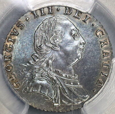 1787 PCGS MS63 George III 6 pence No Hearts Great Britain Silver Coin (18101402C