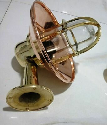 Vintage Nautical Marine Ship Passage Way Bulkhead Light Made Of Brass And Copper