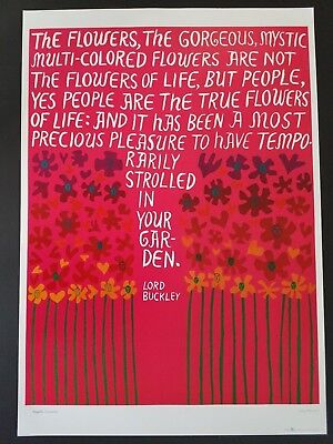 LORD BUCKLEY ORIGINAL 1960's FLOWER POWER PEOPLE POSTER 60s PEACE LOVE HAPPINESS
