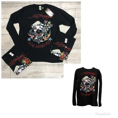 NEW 25 pc Lot Ed Hardy Mens Death or Glory Long Sleeve T-Shirts Sz S-L