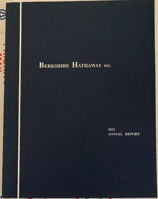 Berkshire Hathaway Annual Report 2012 With Proxy Statement