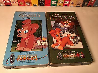 Feature Films For Families Musical Animation VHS Lot Seventh Brother Tiny Heroes