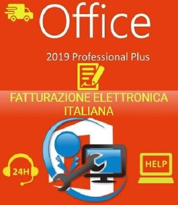 Office 2019 Professional Plus Pro Key 32/64 Bit - Licenza Esd - Fattura Italiana
