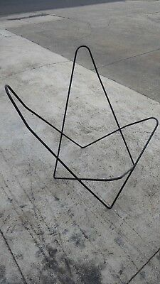 Vintage Metal Butterfly Chair Frame Solid Rod Australian Made #3