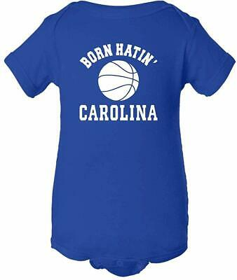 fb3fd9e8f Duke Blue Devils Fan Cute Baby Shower Gift Born Hatin' Carolina Bodysuit