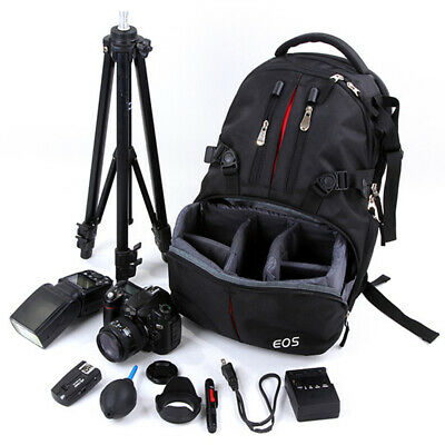 Waterproof Backpack SLR Camera Photography Bag Travel Rucksack For Canon Nikon