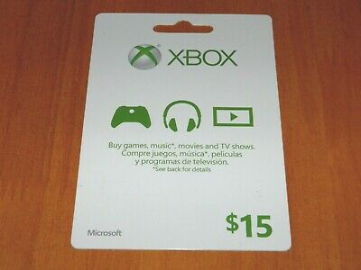 New Microsoft Xbox Live Card $15 dollar