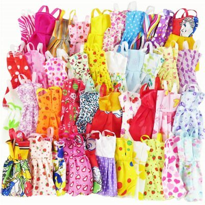 10Pcs Mix Sorts Beautiful Handmade Party Dress Clothes Kids Toys for Barbie Doll