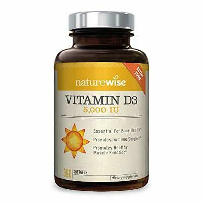 NatureWise Vitamin D3 5000IU For Healthy Muscle Function,Bone Health Immune Supp
