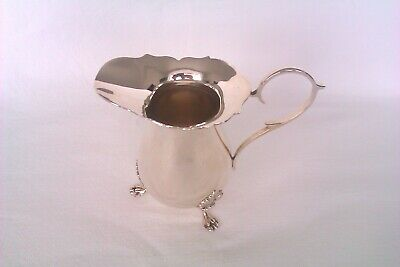 Rare & Beautiful Solid Silver Georgian Style Cream Jug / Milk Jug Joseph Gloster