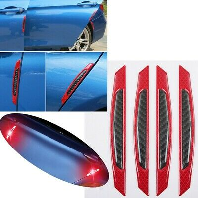 4pcs/Set Safety Reflective Warning Strip Car Bumper Reflector Stickers Decals