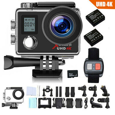 Campark 4K Action Camera Dual Screen WIFI FHD 16MP Impermeabile Sport Camera 32G