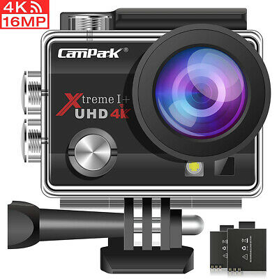 Campark Pro Cam Sport Action Camera Full HD 4K WIFI 16MP Videocamera telecomando