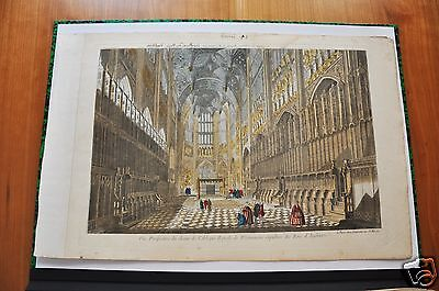 WESTMINSTER .CHOEUR ROYAL, ABBEY Westminster, VIEW OPTICAL late eighteenth.