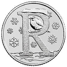 A-Z Alphabet Coin Hunt 10p Letter (R) For Robin 2019 Uncirculated
