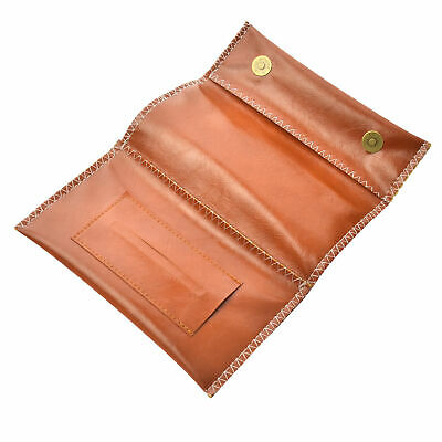 Leather Cigarette Tobacco Pouch Bag Case Filter Rolling Paper Pipe Holder Coffee