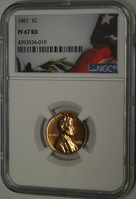 *** 1961 NGC PF 67 RD Lincoln Cent ***