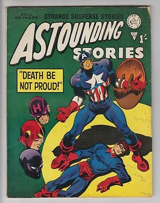 Astounding Stories # 63  Alan Class  Avengers # 56  Bucky  Vg/fn  Uk Edition