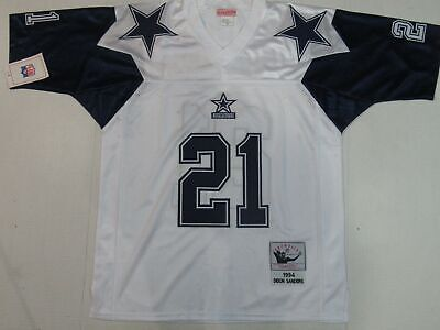 f1e6262d2 NWT Deion Sanders #21 Dallas Cowboys M&N Throwback Thanksgiving Jersey White