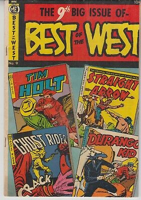 Best Of The West # 9  Fine 6.0  Ghost Rider  Me Comics Cents  1952  Scarce