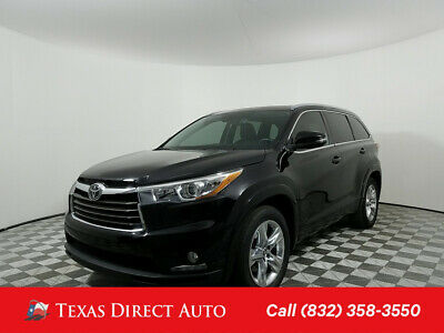 2016 Toyota Highlander Limited 4dr SUV Texas Direct Auto 2016 Limited 4dr SUV Used 3.5L V6 24V Automatic FWD SUV