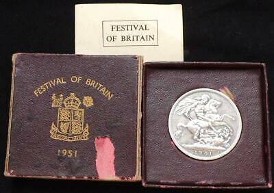 1951 George VI Festival Of Britain Boxed Crown Coin..