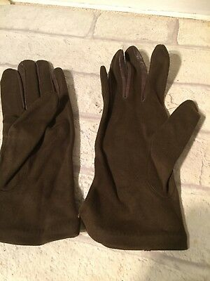 Vintage UNUSED Ladies Gloves  Brown Made By Bolton's Size 7