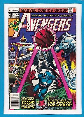"""Avengers #169_March 1978_Fine/very Fine_Eternity Man_""""the End Of The World""""!"""