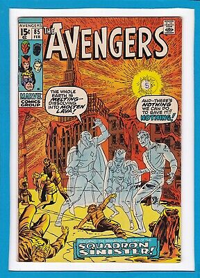 """Avengers #85_February 1971_Fine/very Fine_""""the Return Of The Squadron Sinister""""!"""