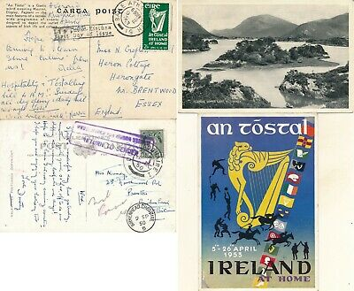 Ireland, Unchecked Nice Lot Of Of 2 Different Used Postcards, See.. ..  #z725