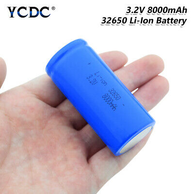 32650 Battery 3.2V 8000mAh Large Capacity Rechargeable Li-ion Batteries Cell FB