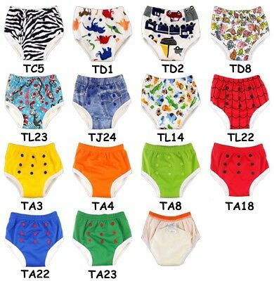Washable Baby Training Pants  Bamboo Potty Baby Pants 1pcs PUL Fabric Fit 1-3yr