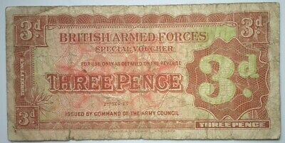 BRITISH ARMED FORCES   3 Pence  1948  -     3d BAF  1948    ( 2nd. Series )