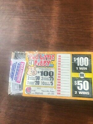"""""""This Little Piggy"""" 1 Window Pull Tab 360 Tickets Payout $280 Free Ship USA Only"""