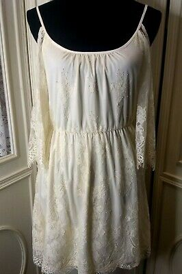 b67e32f62 TAYLOR & SAGE Juniors Medium Lace Dress Ivory NWT - $15.30 | PicClick