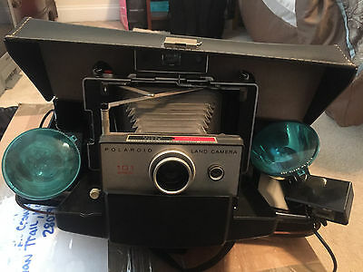 Polaroid 101 Automatic Land Camera With 2 Flash Paperwork And Original Case