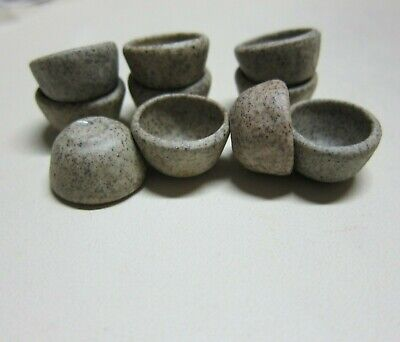 10x18 mm Stoneware Bowl Dollhouse Miniatures Ceramic Food Supply Deco