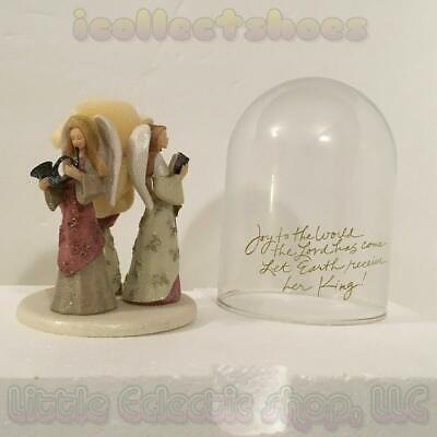 Karen Hahn Foundations 4002827 THREE ANGELS Resin Rotating Musical Figurine NEW