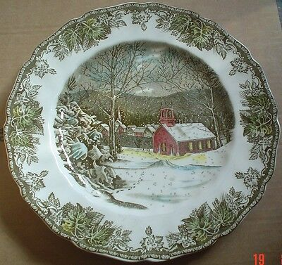 Johnson Brothers THE SCHOOL HOUSE Dinner Plate THE FRIENDLY VILLAGE