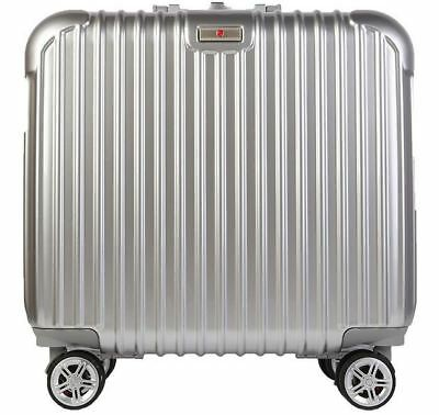 "18"" Lightweight Aluminum-Magnesium Alloy Universal Wheel Travel Luggage Suitcase"