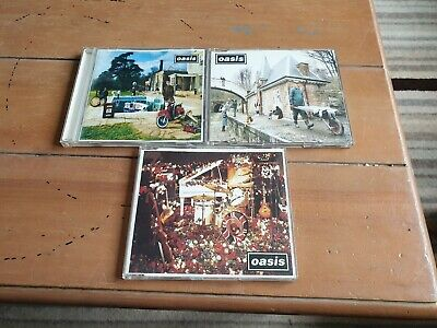 oasis x 3 cds..2 singles 1 album..dont look back..some might say..be here now