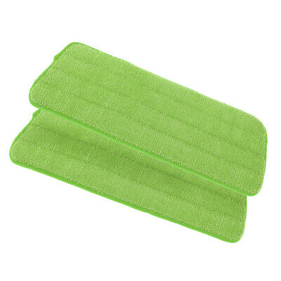 2 Pieces/Set Microfiber Mop Cloth for Wet Dry Floor Cleaning Scrubbing Green
