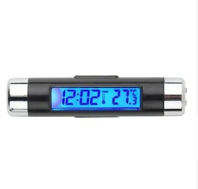 Car Auto LCD Clip-on Digital Backlight Automotive Thermometer Clock calendar