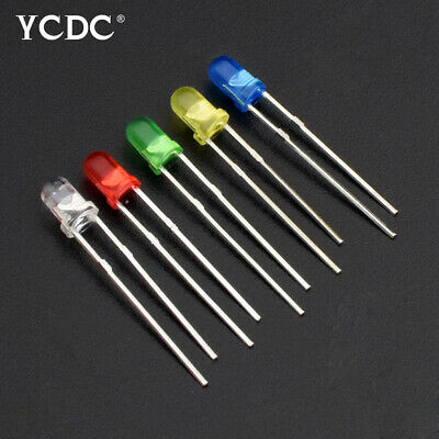 100Pcs/Lot 3mm LED Diode électroluminescente 5 Couleurs Ampoule de spot Lampe 5