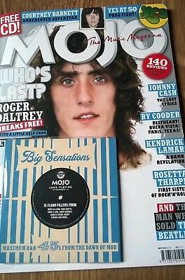 Mojo May 2018 Magazine + CD Mod Roger Daltrey Who Yes Courtney Barnett Ry Cooder