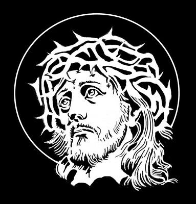 high detail airbrush stencil jesus six FREE UK POSTAGE