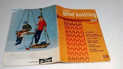 VINTAGE VOGUE 's GOOD KNITTING GUIDE BOOK 1950s LEARN TO KNIT & CROCHET.