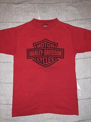 Harley Davidson Men's Small Las Vegas Nevada Spell Out Logo Red T-Shirt